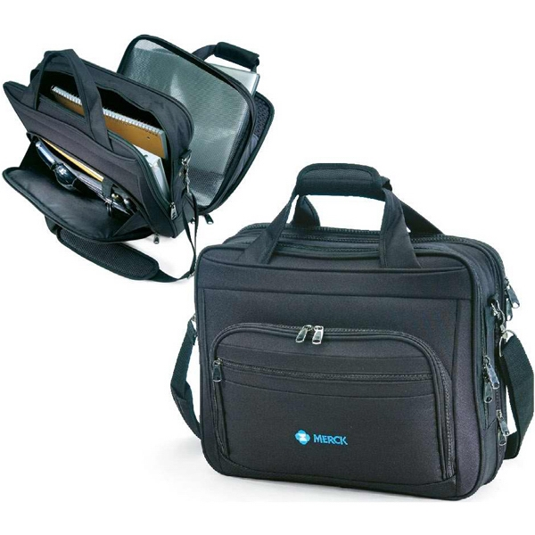 "Passage - Briefcase Made Of 1680 And 600 Denier Polyester. Holds A 17"" Laptop. Closeout! Photo"