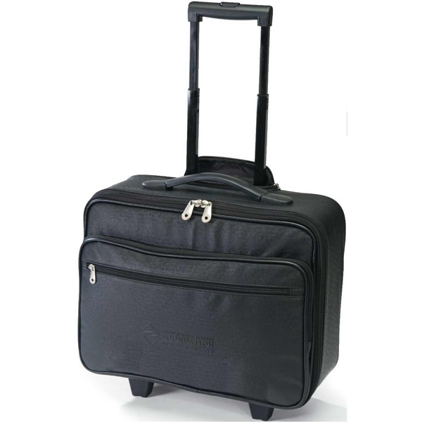 Legacy - Rolling Briefcase With Pull-out Handle That Locks With Hide-a-way Zippered Pocket Photo