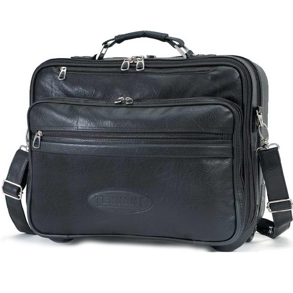 Churchill Koskin Collection - Rolling Computer Briefcase With Padded Laptop Pouch Photo