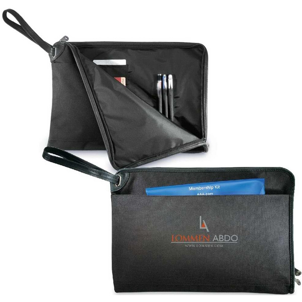 Journalist - Legal Size Zippered Portfolio With Retractable Handle And Organizer Pockets Photo