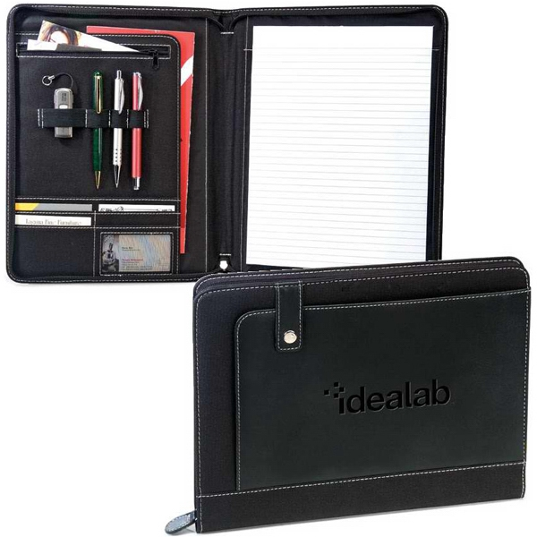 Conference - Black Padfolio Made Of Leatherette/600d Polyester Photo