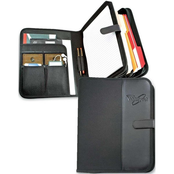 Venture Plus - Black Combination Organizer/padfolio With Interior File Folder Section Photo