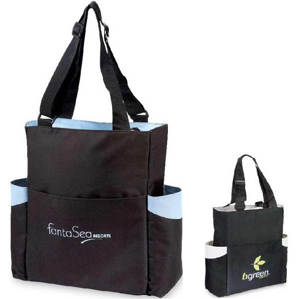 Fremont - Classic Travel Tote Bag With Distinctive Color Accents And Zippered Closure Photo