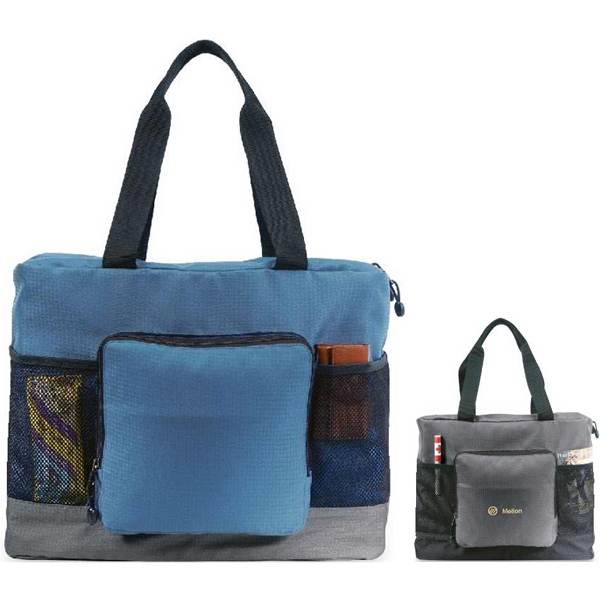 Stuff-a-way - Folding Tote Made Of Boxcar Dobby. Closeout Photo