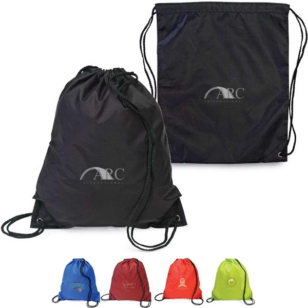 Sidekick - Drawstring Backpack Made Of 210d Nylon With Easy Access Storage Compartment Photo