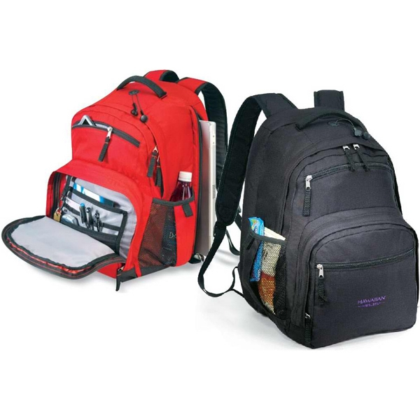 Destination - Multi Pocket Backpack With Front Pocket Organizer Made Of 600 Denier Polyester Photo