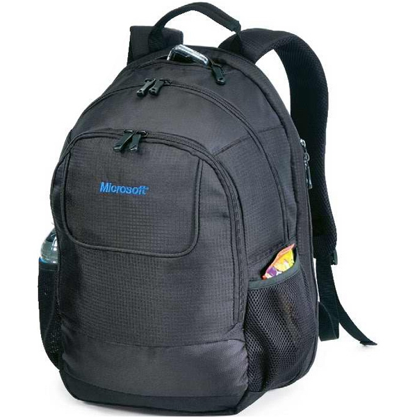 "Contour - Sporty, All Purpose Backpack Made Of Boxcar Dobby. Holds 17"" Laptop. Closeout! Photo"