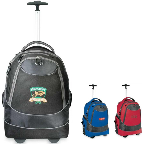 Horizon - Multi-use Rolling Computer Backpack With Sturdy Telescoping Aluminum Pull Handle Photo