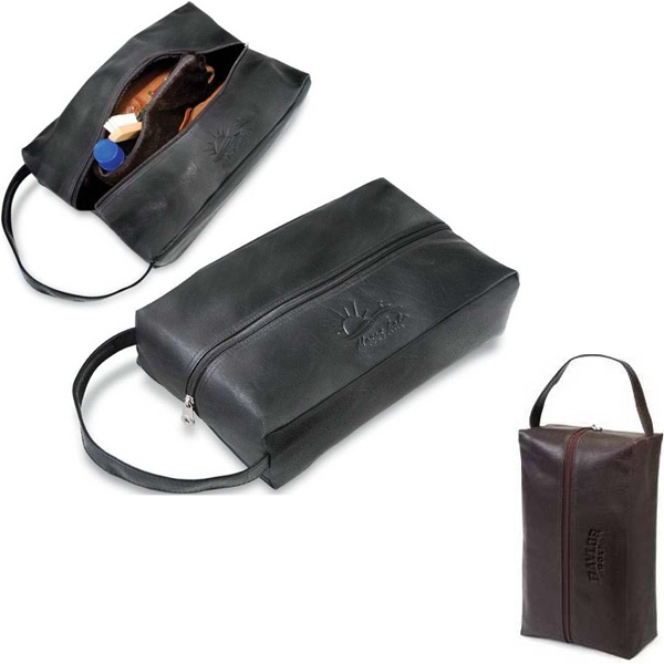 Koskin Collection - Golf Shoe Bag With Zippered Main Compartment, Plush Lining And Zippered Divider Photo