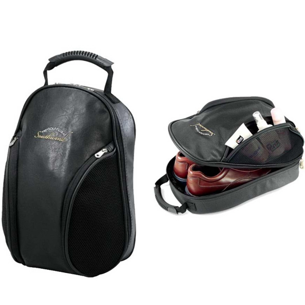 Concord Koskin Collection - Elegant Locker/golf Shoe Bag With Velour-lined Zippered Shoe Compartment Photo