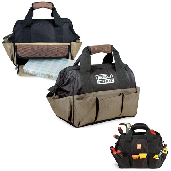 Handyman - Heavy Duty Tool Bag With Clear Plastic Accessory Case With Adjustable Dividers Photo