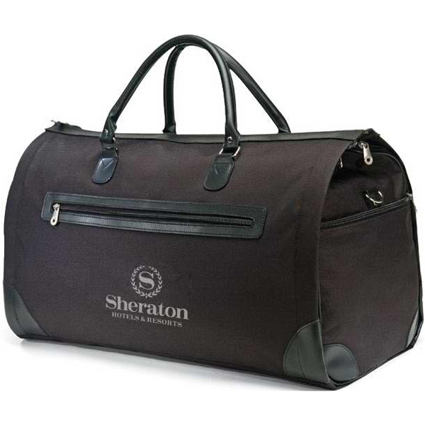 Elite - Black Travel Bag Made Of 600d Polyester/leatherette Photo