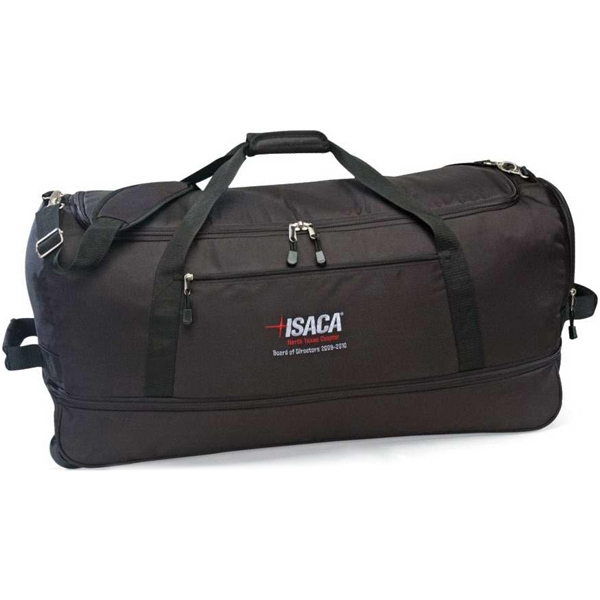 "Stow Away - Black Duffel Bag Made Of 600d Polyester, Expands To 16"" Photo"