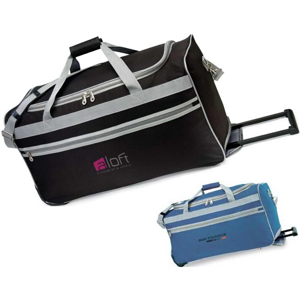 South Beach - Rolling Duffel Bag With Full-length Front Zipper Pocket And Padded Handle Photo