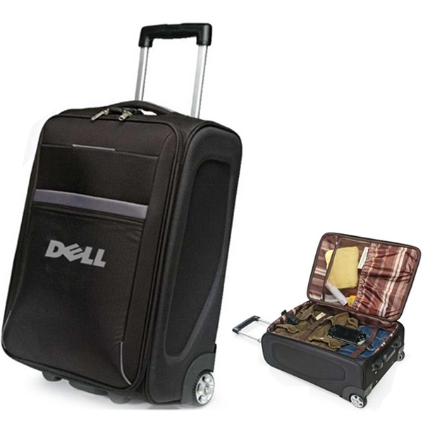 Airway - Black Travel Luggage Made Of 600d Polyester With In-line Skate Wheels Photo