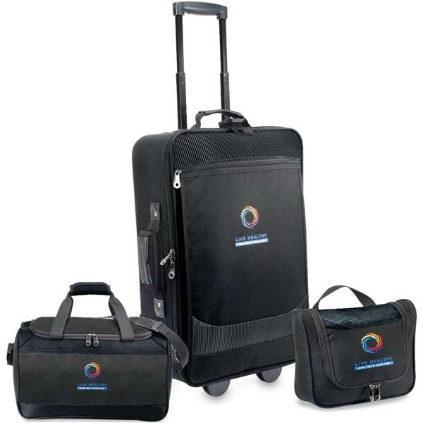 Escort - Three Piece Luggage Set Includes Pullman, Carry On Duffel And Amenity Kit Photo
