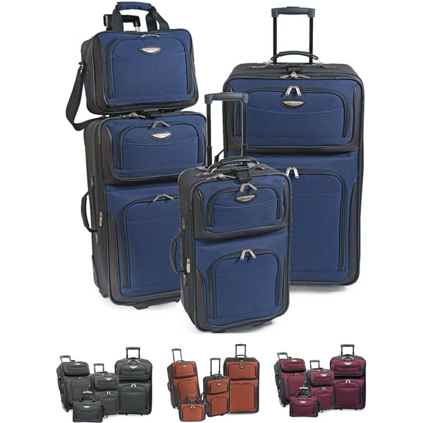 Amsterdam - Four Piece Luggage Set With Push-button Locking Internal Retractable Handles. Blank Photo