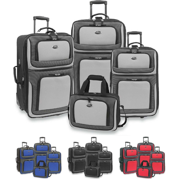 New Yorker - Four Piece Luggage Set With Aluminum Push-button Handle System. Blank Photo