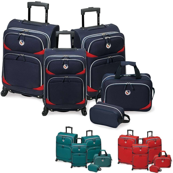 San Vincente - 5 Piece Set Luggage, Made Of 600 Denier Polyester. Blank Photo