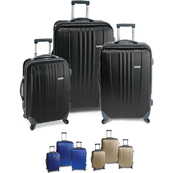 Toronto - 3 Piece Expandable Upright Luggage Set Made Of Abs Hard Case. Blank Photo