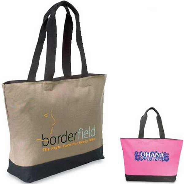 Conventioneer - Tote Bag With Large Zippered Main Compartment. Closeout Photo