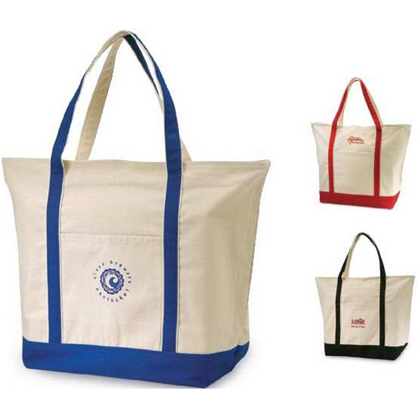 Yacht Club - Natural Cotton Canvas Tote Bag. Closeout Photo