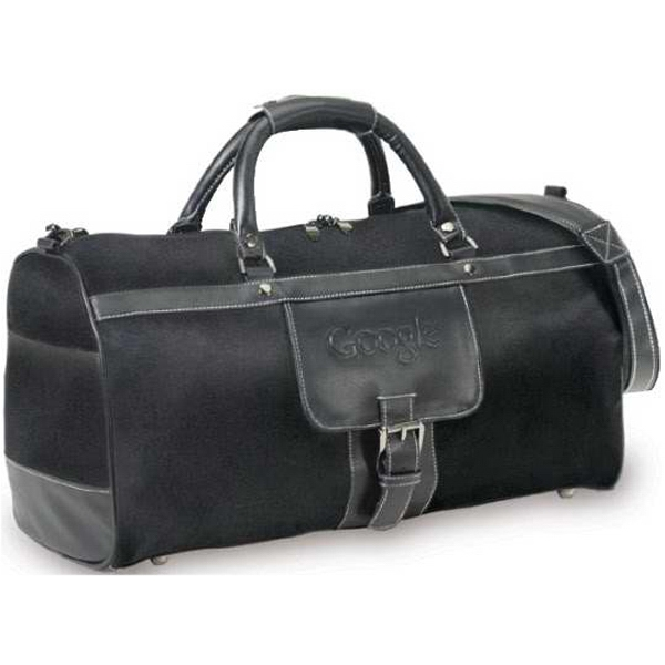 Prado - Brushed Twill/leather Duffel Bag. Closeout Photo