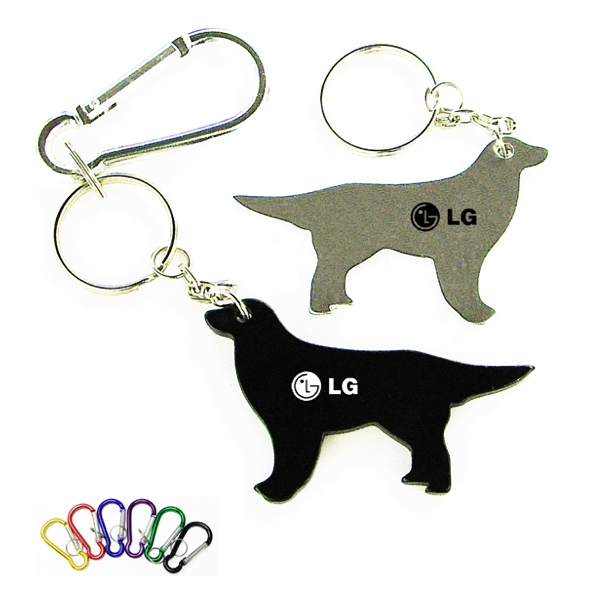 Dog shape bottle opener keychain