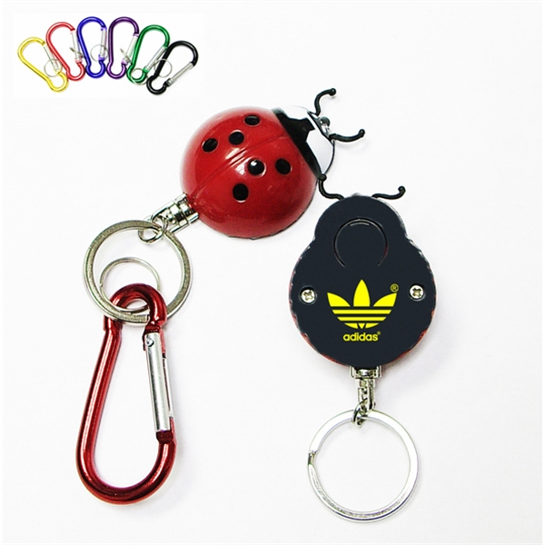 Super bright LED flashlight  swivel keychain