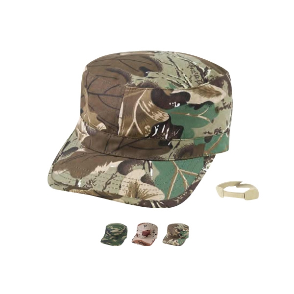 Army Camo Cap, Fabric Strap With Velcro Closure Photo