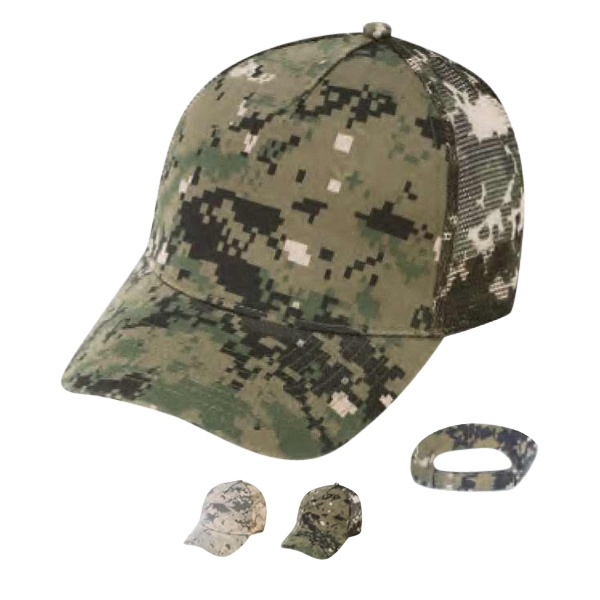 Polyester/cotton Twill Digital Camo Cap With Mesh Back Photo