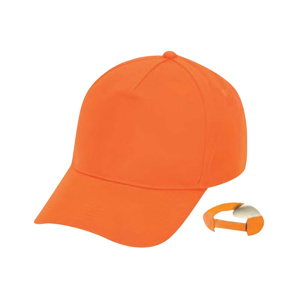 Polyester Flame Orange 5 Panel Cap Photo
