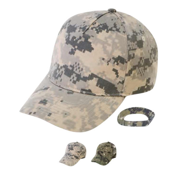 Polyester/cotton Twill Digital Camo Cap Photo