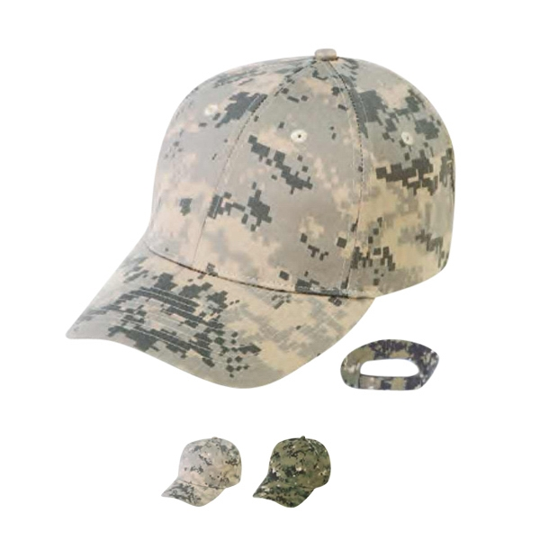 6 Panel Digital Camo Cap Photo