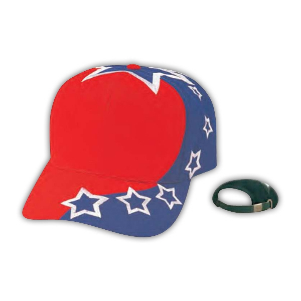 "Pro Style 6 Panel Constructed Cotton Twill ""us Flag"" Cap Photo"
