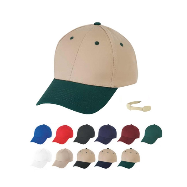 Low Crown 100% Cotton Twill Cap With Self Fabric Velcro Strap Photo