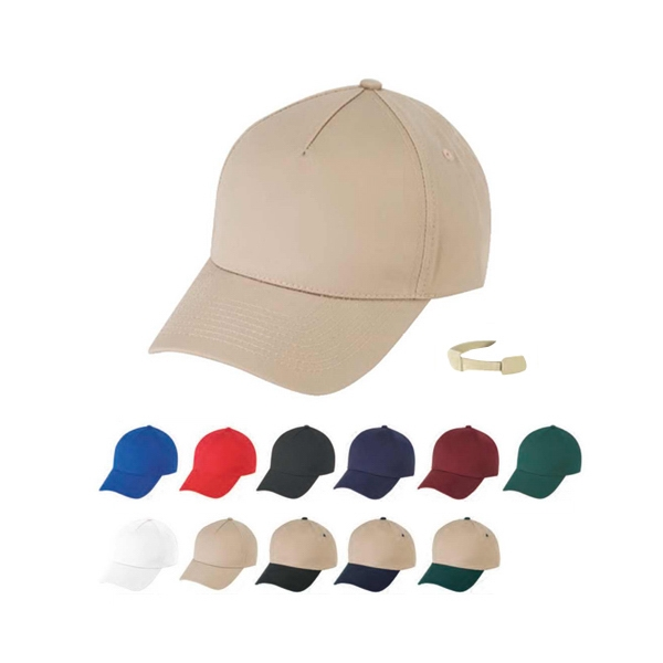 Low Crown 100% Cotton Twill Fabric, Constructed 5 Panel Design Cap Photo