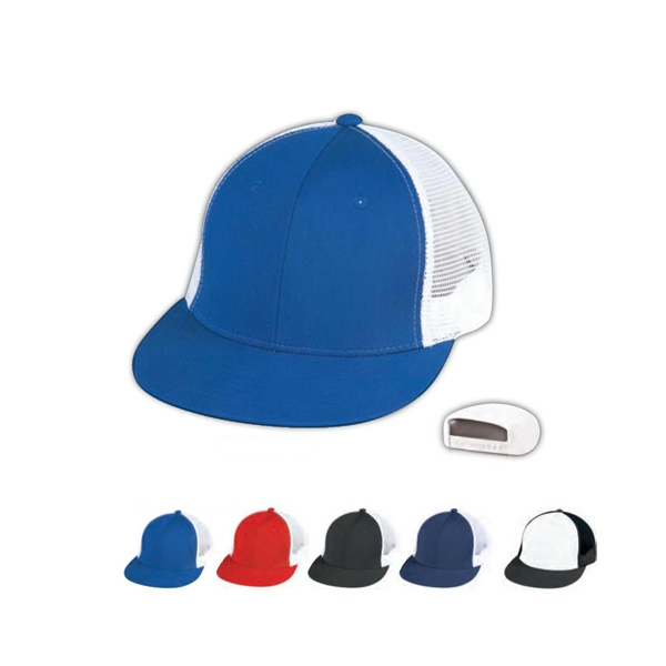 6 Panel Cotton Twill Constructed Trucker's Cap With Plastic Adjustable Snap Photo