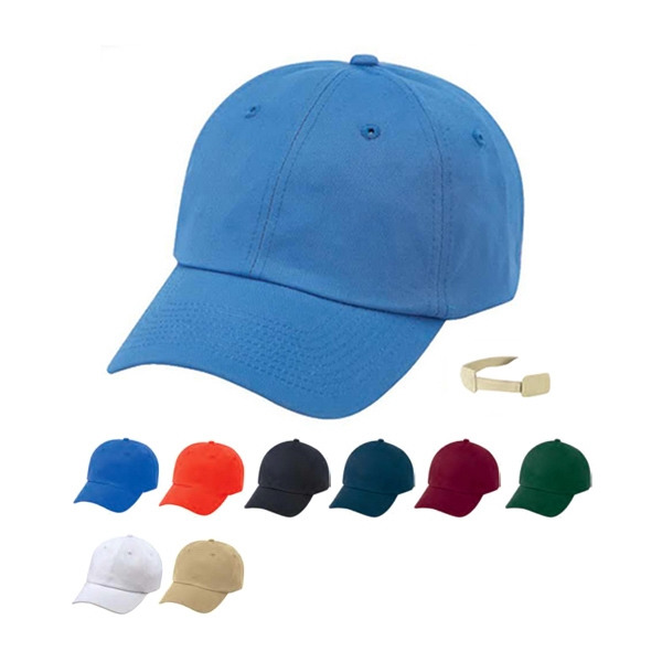 Storm - Low Crown 100% Heavy Cotton Twill Unconstructed Cap With Self Fabric Velcro Strap Photo