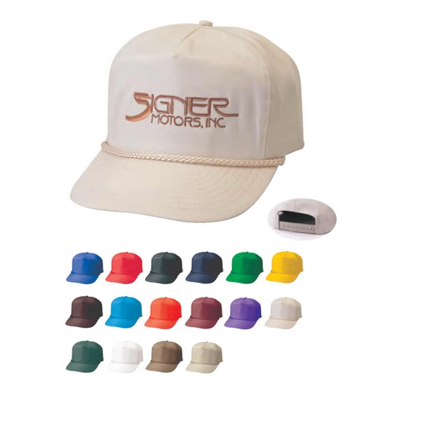 Poplin Golf Cap With Plastic Adjustable Snap Photo