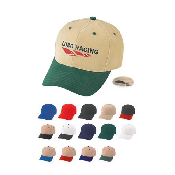 Pro Style Constructed Heavy Brushed Cotton Twill Cap Photo