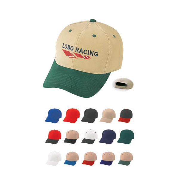 Pro Style Constructed Cap Made Of Heavy Brushed Cotton Twill Photo