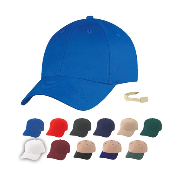 Low Crown Constructed 100% Lightweight Brushed Cotton Twill Cap Photo