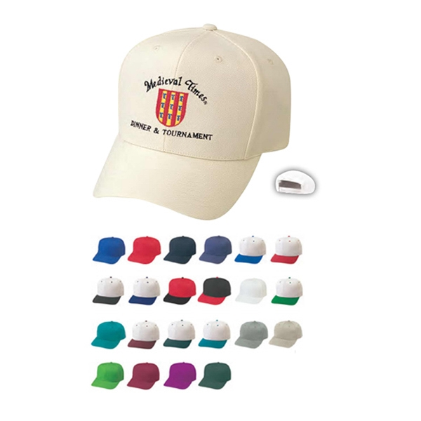 Pro Style Constructed Wool Blend Cap With Plastic Adjustable Snap Photo