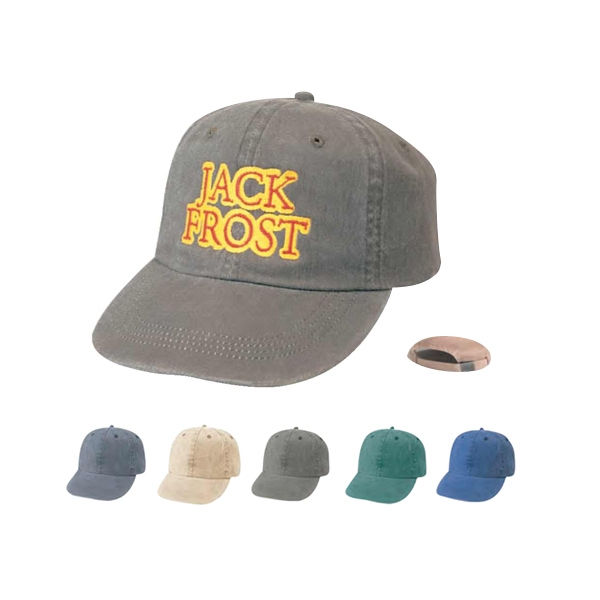 Low Crown Unconstructed Brushed And Cap Washed Cotton Twill Cap Photo
