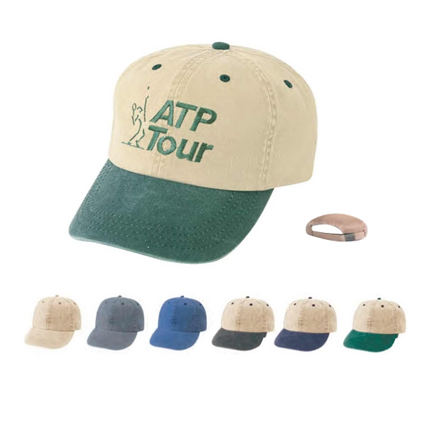 Low Crown Unconstructed Cotton Twill Cap Washed With 6 Panel Design Photo