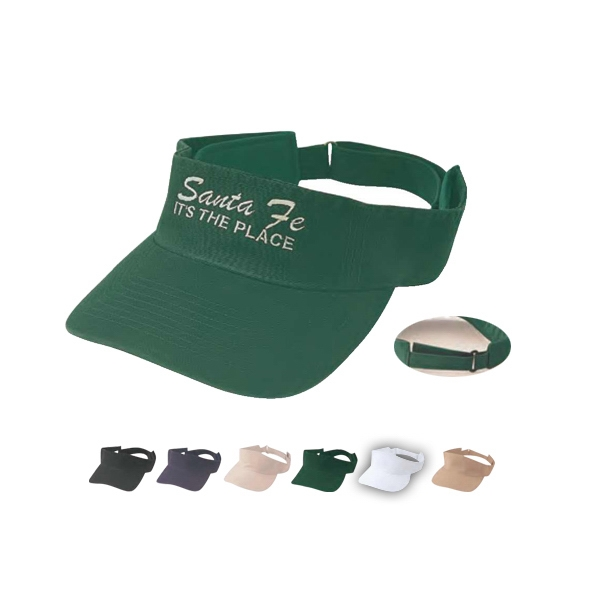 Pro Style 100% Cotton Twill Fabric Visor, Washed Photo