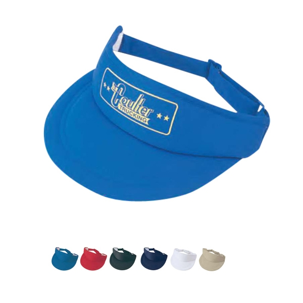 Poly Foam Visor With 100% Polyester Photo