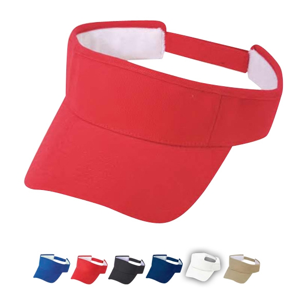 Pro Style 100% Brushed Cotton Twill Visor With Self Fabric Velcro Strap Photo