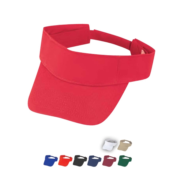 Storm - Pro Style 100% Heavy Cotton Twill Fabric Visor With Self Fabric Velcro Strap Photo